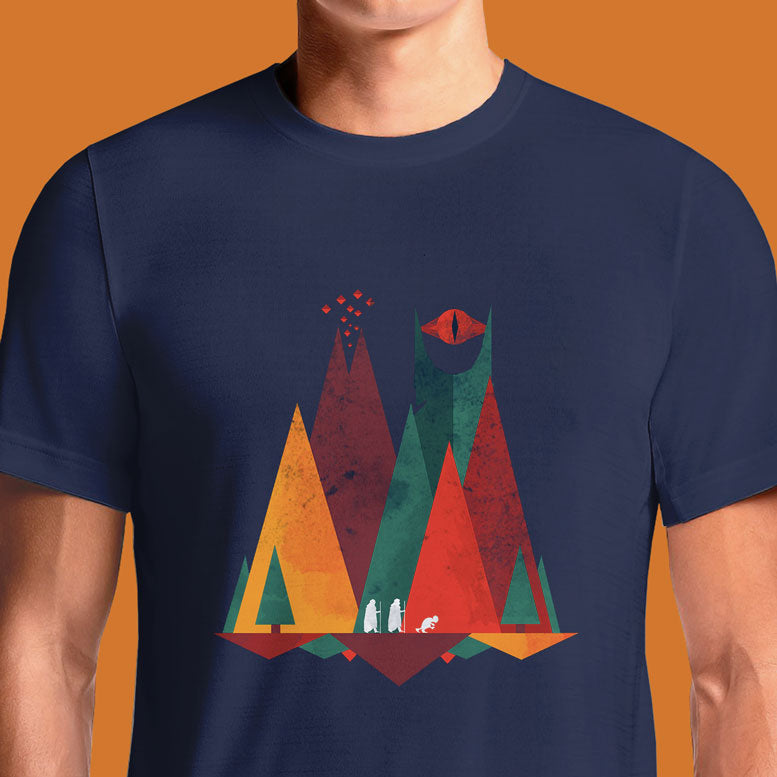 The Lord of the Rings Middle Earth Geometric Adult T-Shirt | OSOMWEAR