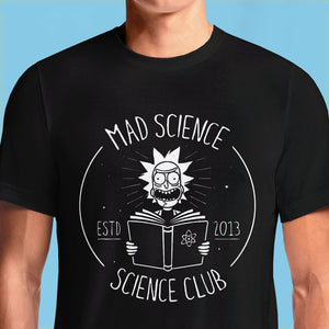 Rick and Morty: Mad Science Club Art T-shirt | OSOMWEAR