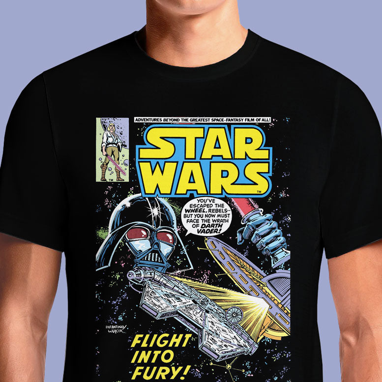 Flight into Fury - Official Star Wars Vintage Comics T-Shirt | OSOM