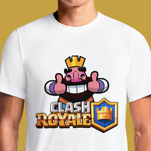 Clash Royale Emoticon Thumbs Up T Shirt India https://osomwear.in/products/clash-royal-emot-gaming-t-shirts-india Welcome to the Official Supercell Shop where you can find all the latest and greatest Supercell collectibles and apparel from Clash of Clans and Clash Royale!