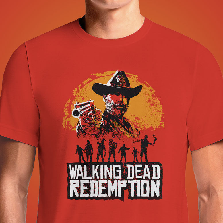 The Walking Dead Daryl Leading Walkers Red T-Shirt. The Walking Dead: Negan Returns To Where Glenn Was Murdered. In the midseason premiere of The Walking Dead, Negan takes a trip down ... While he acquired a new leather jacket and spent a lot of time lurking...Shop Red Dead Redemption The Walking Dead T-Shirts Online India