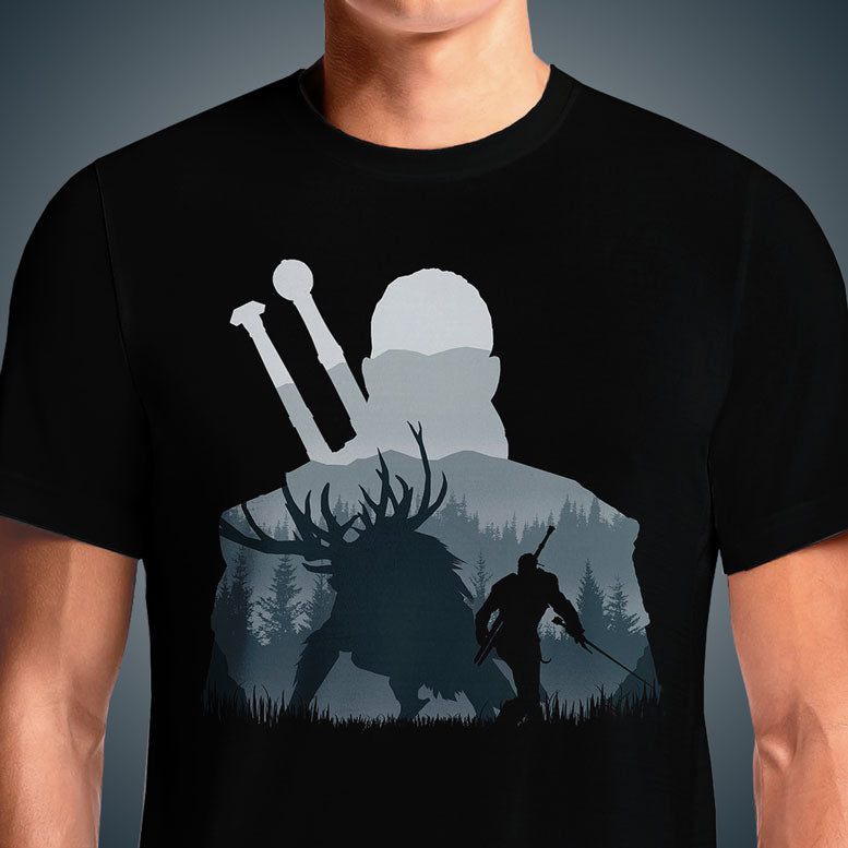 Hunter The Witcher 3 Men's Wild Hunt Premium Cotton T Shirts India