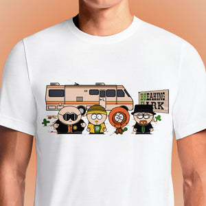 Breaking Bad South Park Mash Up T-Shirt In India | OSOMWEAR https://osomwear.in/products/brealing-park T-Shirts designed on the theme of popular AMC series Breaking Bad, and South Park featuring Bryan Cranston as Walter and Aaron Paul as Jesse Pinkman. Screw You Guys, I'm Going Home - South Park Official T-shirt.