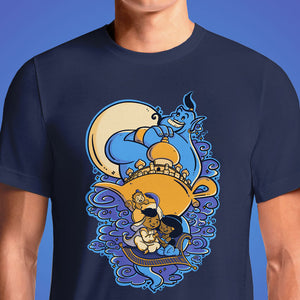 Aladdin Arabian Nights New World Classic Poster Graphic T-Shirt India Vintage Cartoon T shirts
