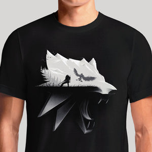 The Witcher 3 Wolf Gaming T-Shirt India | Witcher Wild Hunt - OSOMWEAR