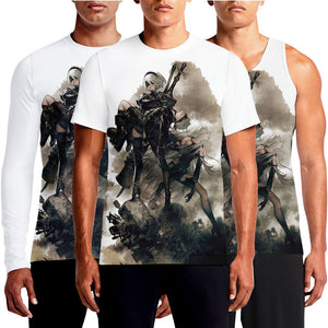 NieR: Automata T-Shirt India Game Merchandise https://osomwear.in/products/nier-automata Join androids 2B, 9S and A2 and their battle to reclaim the machine-driven dystopia overrun by powerful machines in NieR: Automata.