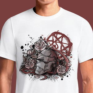 Bloody Memory Fullmetal Alchemist Series T-Shirt https://osomwear.in/products/bloody-memory-anime-fullmetal-alchemist-tv-movies-t-shirts-india A collection of the latest Fullmetal Alchemist merchandise you can find and buy online! Includes products inspired by your favorite characters, films and series. ... bring back painful Fullmetal Alchemist memories with this absolutely savage t-shirt! ... This stylish t-shirt bears the same Blood Rune markings as inside...