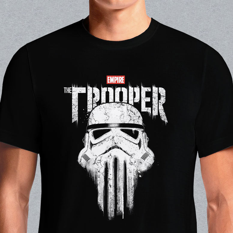 Buy Star Wars Punisher Storm Trooper T-Shirts Online in India. Get this gruesome new Marvel Storm Trooper Punisher logo tee now! This t-shirt features the Storm Trooper Punisher Logo screen printed to perfection with white on a black 100% cotton tee Storm Trooper Punisher T-Shirt India. Deadpool Vs. The Punisher Black T-Shirt. Marvel's The Punisher Black Short Sleeve.