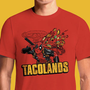 Deadpool Tacos T-Shirt 3Xl Online Shirts India Design Women's Buy Best Chimichangas Cheap Red T-Shirts For Sale I Have Issues Deadpool's Pizza Ryan Reynolds