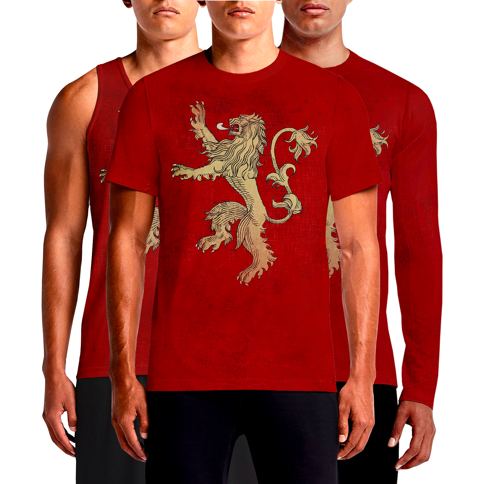 Game Of Throne House Lannister Lion Tyrion Red T-Shirt, Tank Top, Full Sleeves