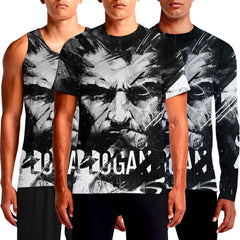 Logan Old Man T-Shirt Wolverine T Shirt Marvel India Online T-Shirts  Blood And Steel Sublimated Dark Full Sleeve For Sale Future X-Men Shopping Superhero OSOM