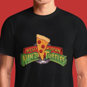 Pizza Ninja Turtles Power Rangers T-Shirts India Funny Quotes T Shirts Online Shopping Graphic Funky Printed Cool Tees For Mens Clothing Casual Round Neck #tmnt #teenage mutant ninja turtles #leonardo #michelangelo #splinter #raphael #april oneil #donatello #geek #nerd #80s #mighty morphin power rangers #mmpr #90s kid #pizza