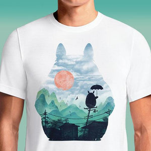 Totoro Anime T Shirt India Shirts Men's White T-Shirt Face My Neighbor Cat Bus Mary Poppins Adventure Time Tonari Buy My Neighbor Totoro T-Shirts Hoodie With Ears