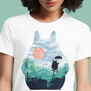 Totoro Anime T Shirt India Shirts Women's T-Shirt Face My Neighbor Cat Bus Mary Poppins Adventure Time Tonari Buy My Neighbor Totoro T-Shirts Hoodie With Ears