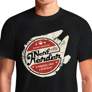 Star Wars Nerf Herder T-Shirts India Funny Quotes T Shirts Online Shopping Graphic Funky Printed Cool Tees For Mens Slogan Womens Clothing Casual Round Neck  #han solo #chewbacca #star wars #jedi #geek #millennium falcon