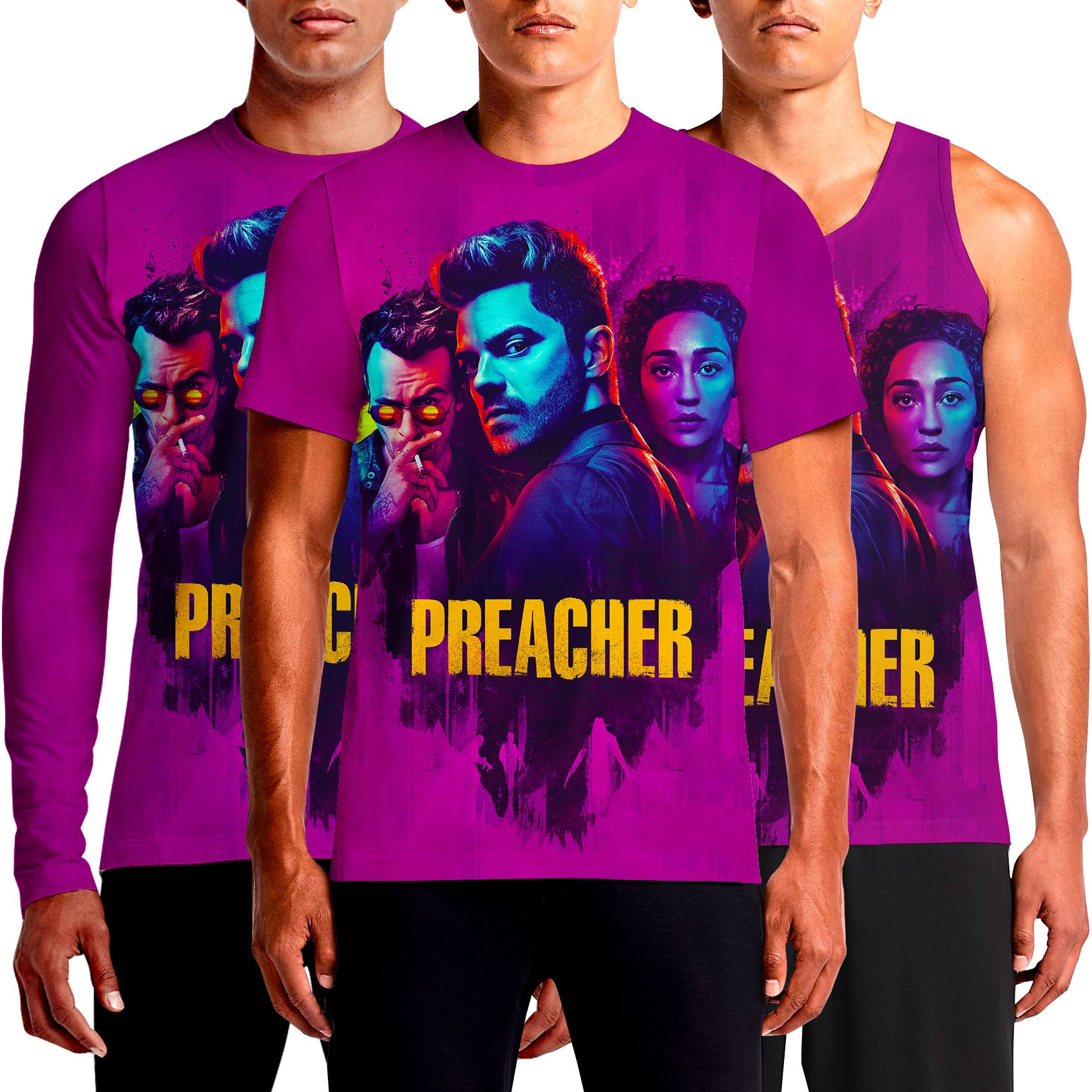 Preacher T Shirt Cool Jesse Custer AMC Shirts The Hiphop Pastor For Sale Cast 2017 Review Season 2 Netflix Ratings Return Tulip Eugene Cassidy Poster New Tee