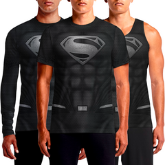 Black Superman Suit Justice League Henry Cavill Man Of Steel New 52 Pop Doomsday Movie Masters For Sale Costume Kryptonian Mens Origin Return T-shirt India OSOM