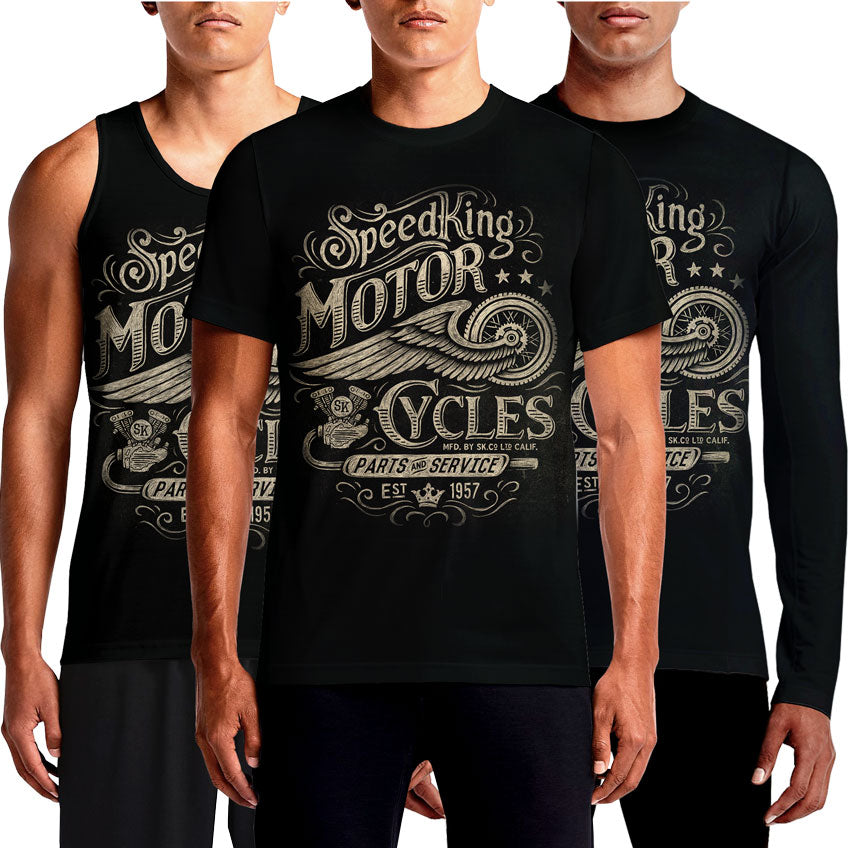 Speedking T Shirt Motorcycle Racing T-Shirts Speed King India Online Harley Davidson Club Vintage Indian Triumph Honda Apparel Adventure Design Custom Classic