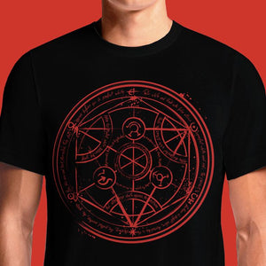 Fullmetal Alchemist T-Shirts Transmutation Circle India Design Brotherhood Women's Symbol Tshirts Funny Graphics Tee Latest T Shirts For Mens Guys Fashion