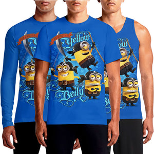 Minions T-Shirts For Adults Online India Despicable Me Buy Printed Minion Banana Couple Design Direct Sports T-Shirt Womens Ladies Large Mens Man Blue Yellow T Shirts