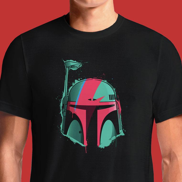 Boba Bowie Boba Fett T-Shirt Star Wars T-Shirts India Bounty Hunter https://osomwear.in/products/boba-bowie-star-wars-comics-tv-movies-t-shirts-india Boba Fett T-Shirt Star Wars T-Shirts India Bounty Hunter Empire Strikes Kills Design Drop Darth Vader Helmet Mens Retro Store Skull Vintage Funny David Bowie