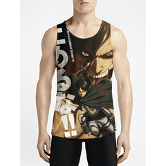 Attack On Titan / Guys Tank TopsShop Online Gym Funny Tank Must Have Mens Fashion Tank Tops OSOM WEAR