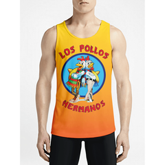 Los Pollos Breaking Bad / Guys Tank TopsFind Stylish Custom Workout Tanks Must Have Gym Long Top OSOM WEAR