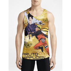 Naruto / Guys Tank TopsFind Stylish Men Long Tank-Top Shop Online Gym Fashion Tank OSOM WEAR