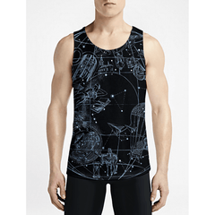 Sky Full Of Stars / Guys Tank TopsNew Styles Mens Trippy Tank Top Get Best Mens Funny Tank OSOM WEAR