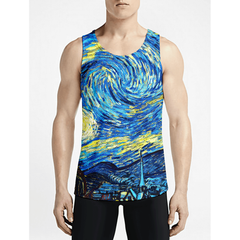 Starry Night / Guys Tank TopsMust Have Guy Muscle Tank-Top Gift NowGym Muscle Tank-Tops OSOM WEAR