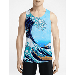 The Wave / Guys Tank TopsNew Styles Men Funny Tank-Top New Styles Mens Funny Tanks OSOM WEAR