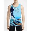 The Wave / Guys Tank Tops - Well, that design really takes the cake! Find Stylish Men's Awesome top