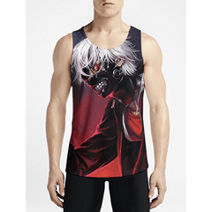 Tokyo Ghoul / Guys Tank TopsBuy Hot Guys Funny Tank Tops Shop Online Boys Fashion Tanks OSOM WEAR