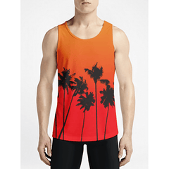 Tropical / Guys Tank TopsMust Have Gym Long Tank-Top Buy Hot Men Trippy Tank Tops OSOM WEAR