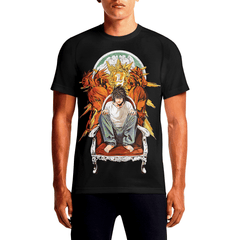 Ryuzaki / Guys TeesGet Best Mens Anime T.shirts Must Have Mens Sports T- shirts OSOM WEAR Abstract Anime Art Comics Fantasy Gaming Horror Minimalistic Movies Music TV Shows Sports