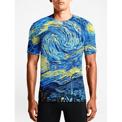 Starry Night / Guys TeesGift Mens Anime T shirts Buy Hot Guys Anime T.shirts OSOM WEAR Abstract Anime Art Comics Fantasy Gaming Horror Minimalistic Movies Music TV Shows Sports