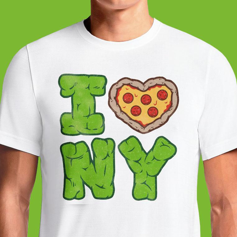 Love Pizza New York Ninja Turtles T-Shirts India Funny Quotes T Shirts Online Shopping Graphic Funky Printed Cool Tees For Mens Clothing Casual Round Neck #tmnt #teenage mutant ninja turtles #the shredder #master splinter #pizza time #cowabunga #cool #rare #90s #delicious #yummy #new york