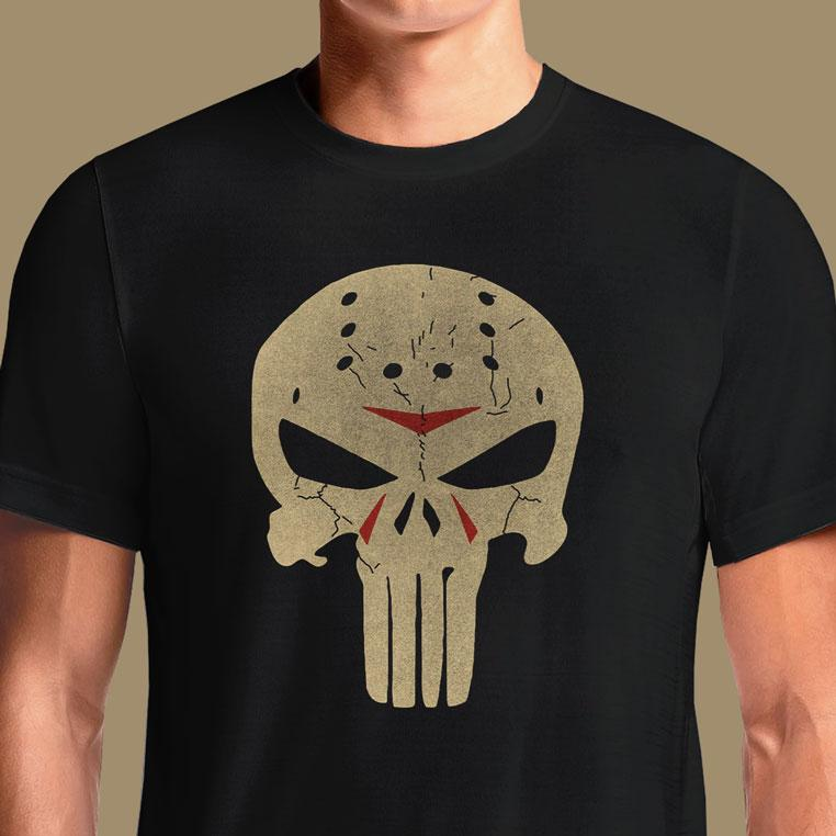 Jason Punisher T-Shirts India Funny Quotes T Shirts Online Shopping Graphic Funky Printed Cool Tees For Mens Slogan Womens Clothing Casual Round Neck