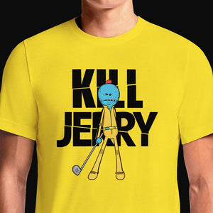 Rick And Morty Meeseeks Kill Jerry T-Shirts India Funny Quotes T Shirts Online Shopping Graphic Funky Printed Cool Tees For Mens Clothing Casual Wear Round Neck #rick sanchez #morty #adult swimim #kill bill #jerry