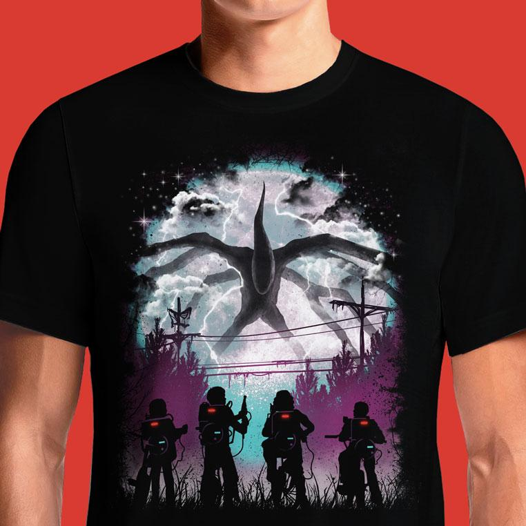 Netflix Stranger Things T Shirt India Season 2 Release Online Merchandise Art Creature Complete Clothing Dustin Demogorgon Eleven Ghostbusters T-Shirt Halloween