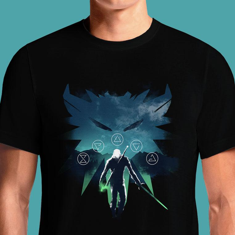 Witcher T Shirt India Medallion Wild Hunt Gamescom Ciri Official The Shirts Online Shop #witcher #wildhunt #geek #thewitcher #geralt #game #rpg #videogames