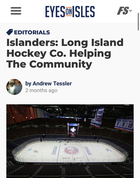 "Eyes on Isles Feature: ""Long Island Hockey Co. Helping the Community"""