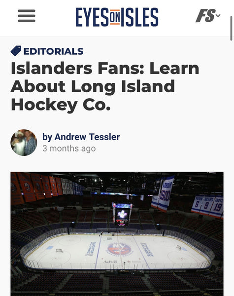 "Eyes on Isles Feature: ""Learn About Long Island Hockey Co."""
