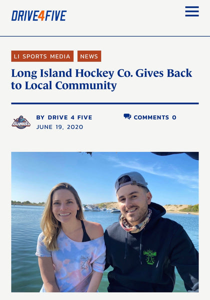 Drive4Five Feature: Long Island Hockey Co. Gives Back to Local Community
