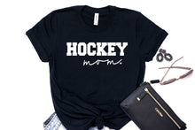 Load image into Gallery viewer, Hockey Mom Tee - Solid Black Blend