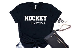 Hockey Mom Tee - Solid Black Blend