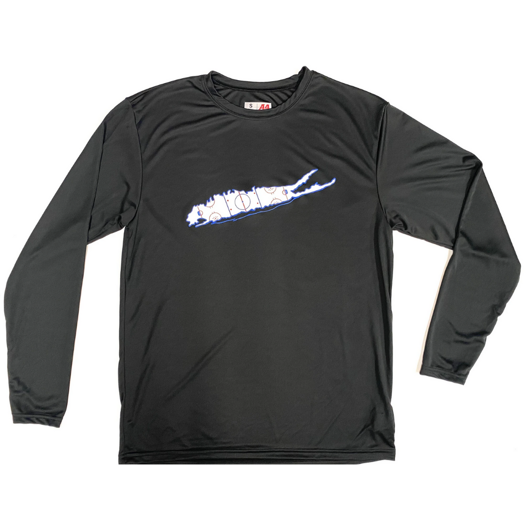 Long Island Hockey Rink Dri-Fit Long Sleeve Shirt