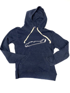 Long Island + Hockey Stick Triblend Hoodies