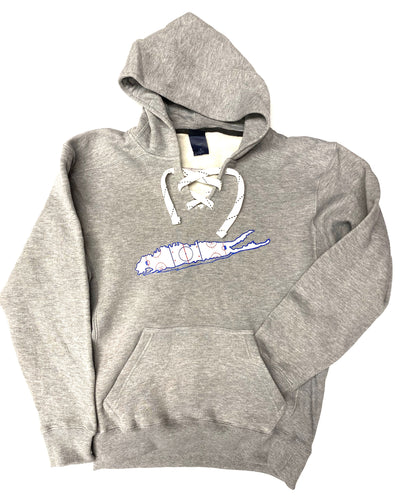 Long Island Hockey Rink Lace Up Hoodies