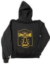 Load image into Gallery viewer, Lighthouse x Champion Hoodie: Black + Gold